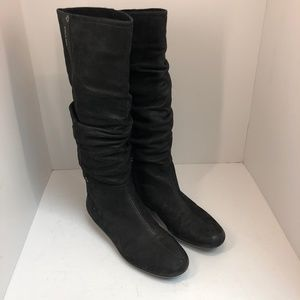 Prada Slouchy Mid-calf Suede Leather Boots size 8